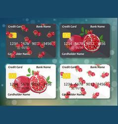 original pomegranate credit card design vector image
