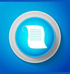 paper scroll icon isolated on blue background vector image