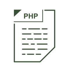 PHP file icon cartoon style vector