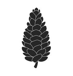 Pinecone iconblack icon isolated vector