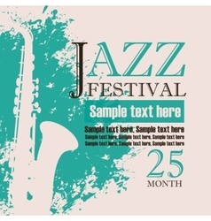 poster for a concert of jazz music festival vector image