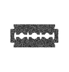 razor blade sign black icon from many vector image