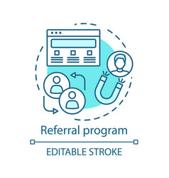 Referral program concept icon marketing campaign vector
