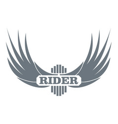 rider wing logo simple gray style vector image
