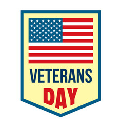 Salute veterans day logo flat style vector