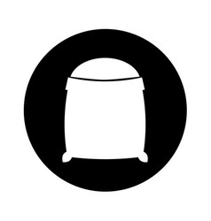 Sand bag isolated icon vector