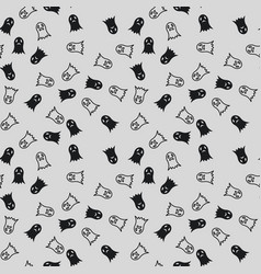 seamless pattern of ghosts vector image