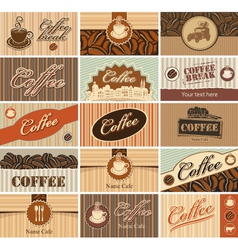 Set banner of tea and coffee vector