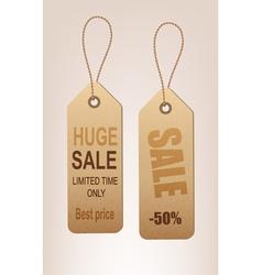 set of reto discount tags vector image vector image