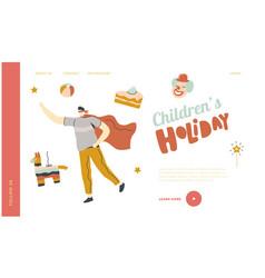 Show for kids carnival amusement landing page vector