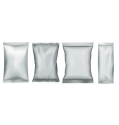 snack food pack plastic bag and foil pouch set vector image