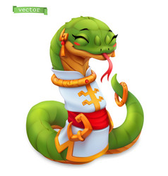 snake funny animal in chinese zodiac chinese vector image