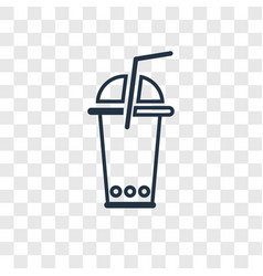 soda concept linear icon isolated on transparent vector image