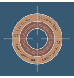 Target infographic 2 vector