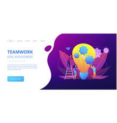 Teamwork concept landing page vector