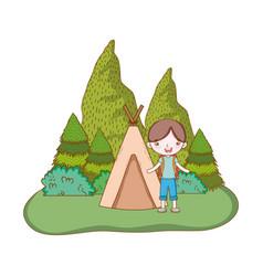 traveler ecological tourism vector image