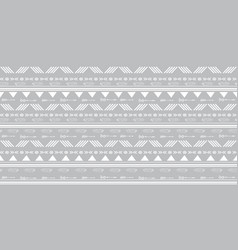 Tribal silver grey seamless repeat pattern vector