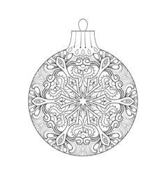 vintage Christmas ball for tree New Year 2017 vector image