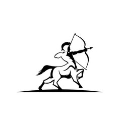 Warrior archer on horseback vector