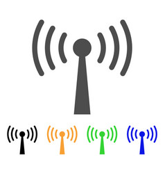 Wi-fi station icon vector