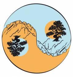 Yin and yang vector