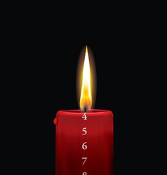 Advent candle red 4 vector image