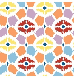 Colorful diamonds ikat geometric seamless pattern vector image vector image