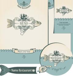 fish restaurants vector image