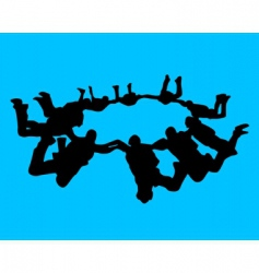 paratroopers vector image vector image