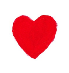 Red acrylic heart vector image