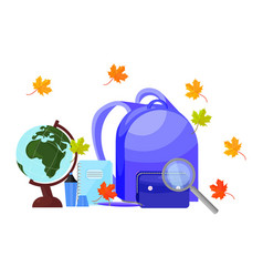 school supplies set background back to vector image