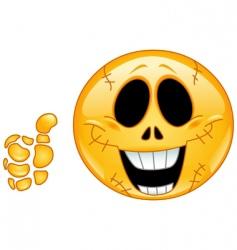 skull emoticon vector image vector image