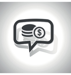 Curved dollar rouleau message icon vector image