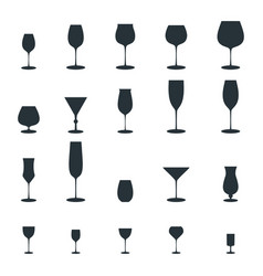 glass vine glass icon vector image vector image