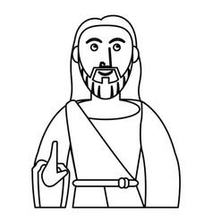 jesus christ prayer sacred outline vector image