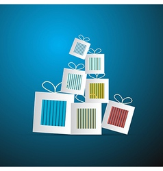 Paper Abstract Gift Present Boxes vector image vector image