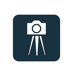 photo camera tripod icon Rounded squares button vector image