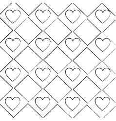 seamless poker pattern with hearts card casino vector image