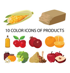 vegetables sweets butter fruits berries vector image