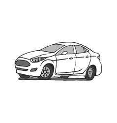 car doodle hand drawn vector image vector image