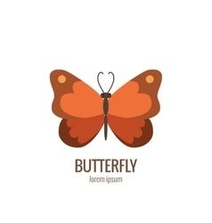 cartoon butterfly logo vector image