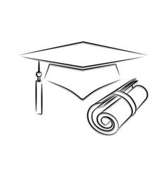 graduation icon vector image vector image