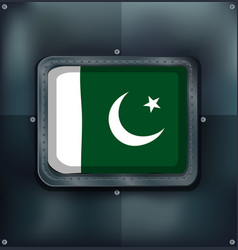 icon design for flag of pakistan vector image vector image