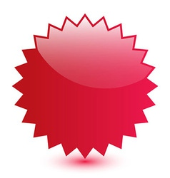 Red blank label vector image vector image