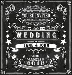 Wedding Invitation Elements vector image vector image