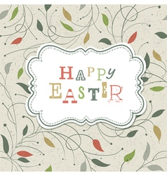 happy easter retro cute greeting vector image vector image