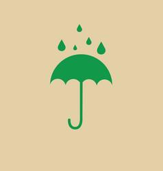 Umbrella packaging symbol no water sign icon vector