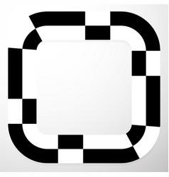 Abstract frame with irregular checkered pepita vector