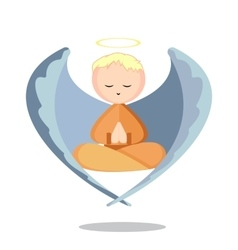 Angel Meditation vector image
