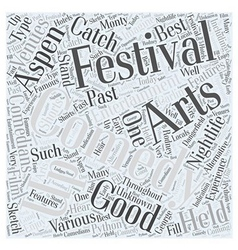 aspen nightlife us comedy arts festival Word Cloud vector image